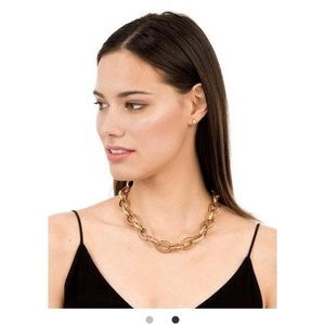 stella and dot pave chain link necklace